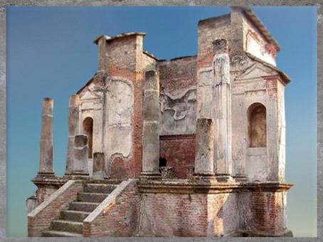 D'après les vestiges dutemple d'Isis à Pompéi,Ier siècle apjc, Italie, époque Romaine. (Marsailly/Blogostelle)