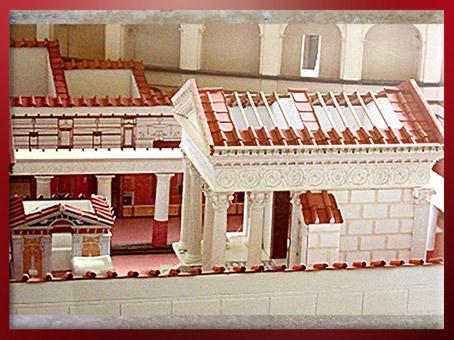D'après le temple de la déesse Isis à Pompéi, maquette, IIe-Ier siècle avjc, époque Romaine. (Marsailly/Blogostelle)