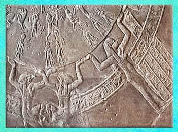 D'après les caryatides, zodiaque de Dendéra, vers 50 avjc, Ier siècle avjc, temple d'Hathor, époque Ptolémaïque, Égypte Ancienne. (Marsailly/Blogostelle)