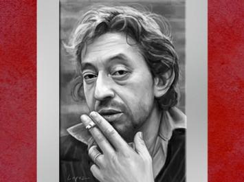 Dessin de Fredlobo Lopez, Serge Gainsbourg. © Fredlobo Lopez-courtesy de l'artiste pour Blogostelle.