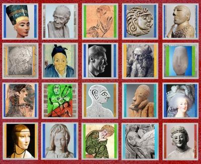 D'après le thème de l'art du portrait, histoire de l'art, composition. (Marsailly/Blogostelle)