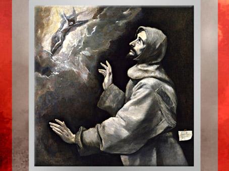 D'après François d'Assise reçoit les stigmates, Le Greco, 1585-1590, Huile sur toile, école espagnole, XVIe siècle, Renaissance. (Marsailly/Blogostelle)