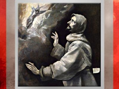 D'après François d'Assise reçoit les stigmates, Le Greco, 1585-1590, Huile sur toile, école espagnole, XVIe siècle. (Marsailly/Blogostelle)