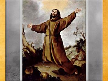 D'après François d'Assise recevant les stigmates, éclairé par le soleil, Bartolome Esteban Murillo, XVIIe siècle, Séville, Espagne. (Marsailly/Blogostelle)