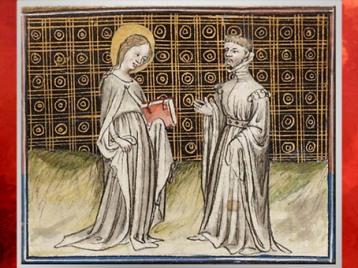D'après La Légende Dorée, Jacques de Voragine, sainte et livre, traduction Jean de Vignay, enluminure, 1404 apjc, France, début Renaissance. (Marsailly/Blogostelle)