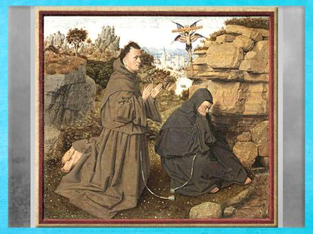 D'après François d'Assise, de Jan Van Eyck, vers 1430, Bruges, XVe siècle, Renaissance Flamande. (Marsailly/Blogostelle)