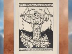 D'après Les Fioretti (Petites Fleurs) de saint François, illustrations gravées d'Émile Bernard, éditions Vollard-Paris,1928 apjc, XXe siècle. (Marsailly/Blogostelle)