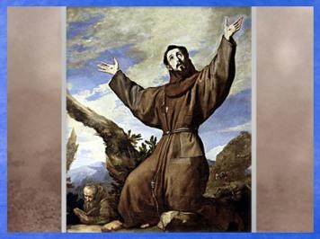 D'après Saint François d'Assise, dans la Divine Comédie de Dante, de Jusepe de Ribera, 1642 apjc, peintre espagnol, à Rome et Naples, XVIIe siècle, période Baroque. (Marsailly/Blogostelle)