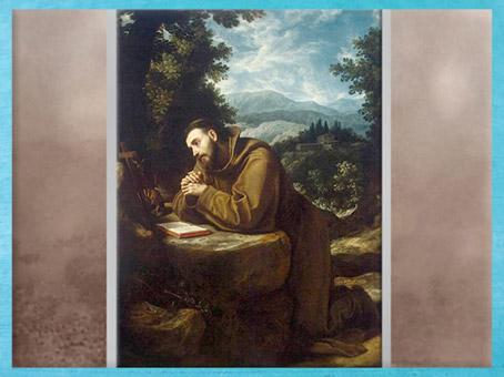 D'après François d'Assise, méditation dans la nature, de Lodovico Cardi dit Le Cigoli, huile sur toile, 1597-1599, XVIe siècle, Renaissance. (Marsailly/Blogostelle)