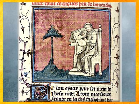 D'après La Légende dorée, Jacques de Voragine, le saint Voult de Luques, Nicodème, Les Festes nouvelles, traduit par Jean de Vignay, 1401-1500 apjc, Renaissance. (Marsailly/Blogostelle)