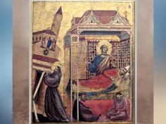 D'après Le Songe d'Innocent III, prédelle de saint François aux stigmates, de Giotto Di Bondone, vers 1295 - 1300 apjc, période médiévale. (Marsailly/Blogostelle)