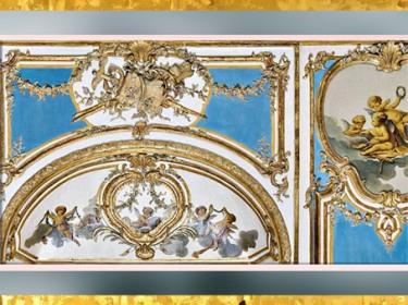 D'après le décor Rocaille d'un cabinet, hôtel Dangé, vers 1750-1755 apjc, Paris, XVIIIe siècle, France. (Marsailly/Blogostelle)