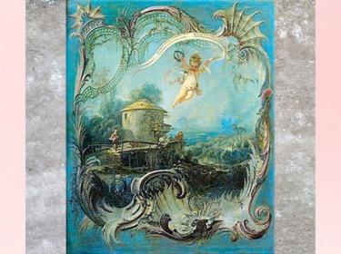 D'après une scène pastorale ornementale, de François Boucher, XVIIIe siècle, France, période Rocaille. (Marsailly/Blogostelle)