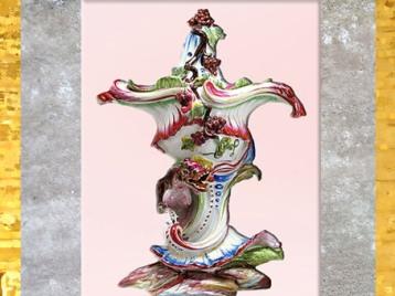 D'après une coupe pot-pourri, avec dragon, faïence, vers 1750-1755 Jacques Chapelle, manufacture de Sceaux, France, XVIIIe siècle, période Rocaille. (Marsailly/Blogostelle)