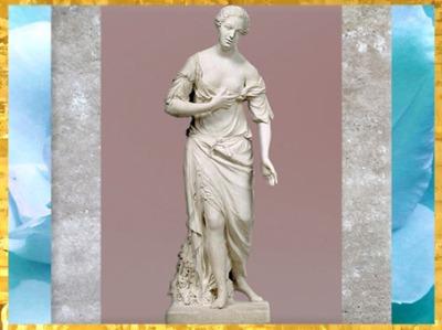 D'après Madame de Pompadour, allégorie de l'Amitié, de Jean-Baptiste Pigalle, 1750-1753,château de Bellevue, bosquet de l'Amour, XVIIIe siècle, France. (Marsailly/Blogostelle)