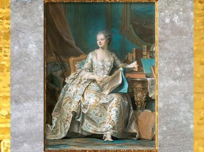 D'après la marquise de Pompadour, de Maurice-Quentin de La Tour, Salon de 1755, pastel, XVIIIe siècle, France. (Marsailly/Blogostelle)
