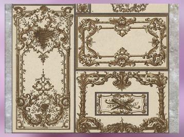 D'après des ornements du style Rocaille, France, XVIIIe siècle.(Marsailly/Blogostelle)