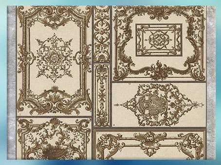 D'après des motifs décoratifs du style Rocaille, France, XVIIIe siècle.(Marsailly/Blogostelle)