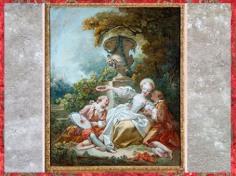 D'après La coquette fascinée, de Jean-Honoré Fragonard, 1755, huile sur toile, XVIIIe siècle, France, période Rocaille. (Marsailly/Blogostelle)