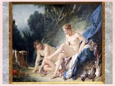D'après Diane sortant du bain, de François Boucher, 1751, huile sur toile, XVIIIe siècle, France, période Rocaille. (Marsailly/Blogostelle)
