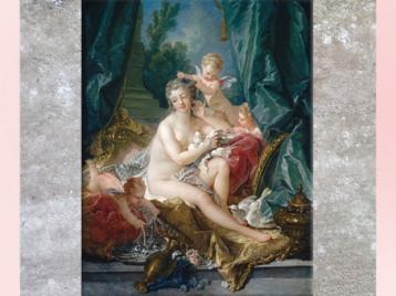 D'après La Toilette de Vénus, de François Boucher,1751, France, XVIIIe siècle, période Rocaille. (Marsailly/Blogostelle)