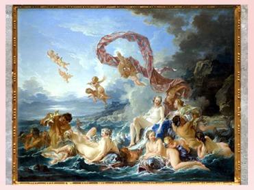 D'après Le Triomphe de Vénus, François Boucher, 1740, huile sur toile, XVIIIe siècle, France, période Rocaille. (Marsailly/Blogostelle)