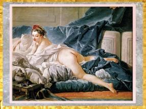 D'après L'Odalisque brune, de François Boucher, vers 1745, huile sur toile,XVIIIe siècle, France, période Rocaille. (Marsailly/Blogostelle)