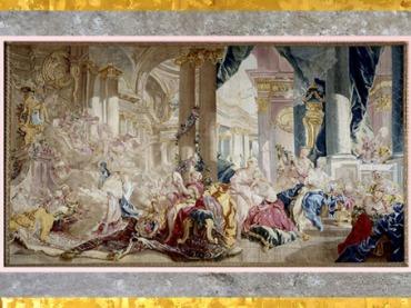 D'après Psyché, Tenture de l'Histoire de Psyché, de François Boucher, après 1741 manufacture de Beauvais, laine et soie, XVIIIe siècle, France, période Rocaille. (Marsailly/Blogostelle)
