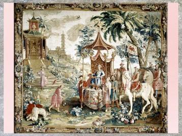 D'après Le Jardin chinois, tenture, selon François Boucher, France, XVIIIe siècle, période Rocaille. (Marsailly/Blogostelle)