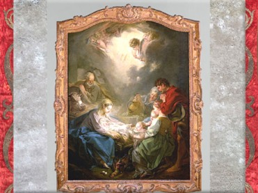 D'après La Lumière du monde, de François Boucher, 1750, peinture religieuse, pour Madame de Pompadour, France XVIIIe siècle. (Marsailly/Blogostelle)