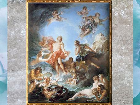 D'après Le Lever du Soleil, de François Boucher, 1753, huile sur toile, XVIIIe siècle, période Rocaille. (Marsailly/Blogostelle)