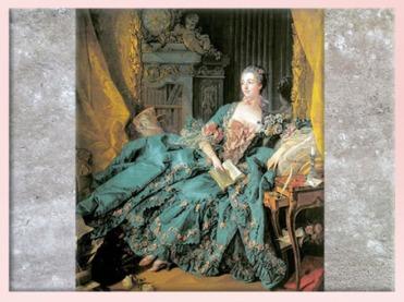 D'après la Marquise de Pompadour, de François Boucher, 1756, XVIIIe siècle, France, période Rocaille. (Marsailly/Blogostelle)