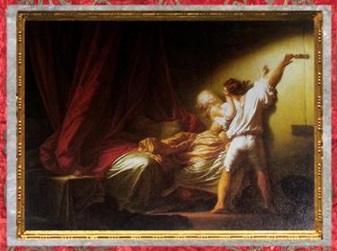 D'après Le Verrou, de Jean-Honoré Fragonard, 1776 - 1779 apjc, XVIIIe siècle, France, période Rocaille. (Marsailly/Blogostelle)