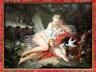 D'après Vénus et Cupidon, de François Boucher, sommaire, art Rocaille. (Marsailly/Blogostelle)