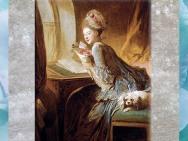 D'après La Lettre d'amour, de Jean-Honoré Fragonard, 1770, huile sur toile, XVIIIe siècle, France, période Rocaille. (Marsailly/Blogostelle)