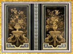 D'après une armoire florale, d'André-Charles Boulle, détail, vers 1680-1700, Paris, France, fin XVIIe-XVIIIe siècle, style Rocaille. (Marsailly/Blogostelle)
