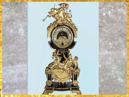 D'après une pendule astronomique, attribuée àCharles Boulle, fin XVIIe-XVIIIe siècle, style Rocaille. (Marsailly/Blogostelle)