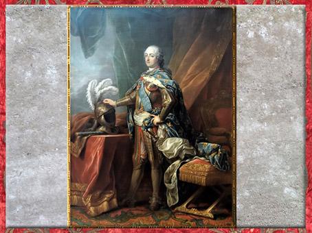 D'après un portrait de Louis XV en armure, de Charles André Van Loo dit Carle Van Loo, 1750, France, XVIIIe siècle. (Marsailly/Blogostelle)