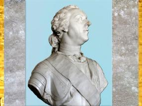 D'après un portrait de Louis XV, profil, de Jean-Baptiste II Lemoyne, 1749, Château de Versailles, France, XVIIIe siècle. (Marsailly/Blogostelle)