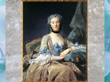 D'après le portrait de Madame de Sorquainville, de Jean-Baptiste Perronneau, 1749, huile sur toile, France, XVIIIe siècle. (Marsailly/Blogostelle)