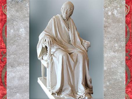 D'après Voltaire nu, de Jean-Baptiste Pigalle, marbre, 1776 apjc, France, XVIIIe siècle, période néoclassique. (Marsailly/Blogostelle)