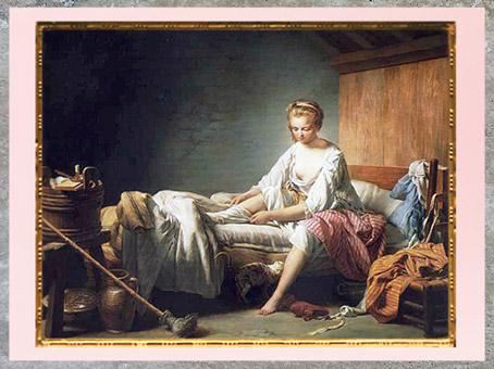 D'après Le Lever de Fanchon, de de Nicolas-Bernard Lépicié, Salon, 1773, huile sur toile, France, XVIIIe siècle. (Marsailly/Blogostelle)