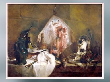 D'après La Raie, de Jean-Baptiste Siméon Chardin, vers 1725 - 1726, huile sur toile, France, XVIIIe siècle. (Marsailly/Blogostelle)