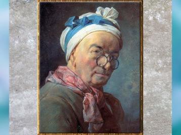 D'après L'Autoportrait aux bésicles, de Jean Siméon Chardin, pastel, 1775, France, XVIIIe siècle. (Marsailly/Blogostelle)