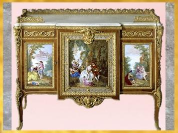 D'après une commode de Madame du Barry, de Martin Carlin, 1772, Paris, France, XVIIIe siècle, période Rocaille. (Marsailly/Blogostelle)