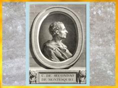 D'après Montesquieu, portrait, estampe, gravure B. L. Henriquet, France, XVIIIe siècle. (Marsailly/Blogostelle)
