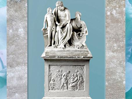 D'après Jean-Jacques Rousseau, de François Masson, 1798-1799, plâtre pour un monument au jardin des Tuileries, France, XVIIIe siècle. (Marsailly/Blogostelle)