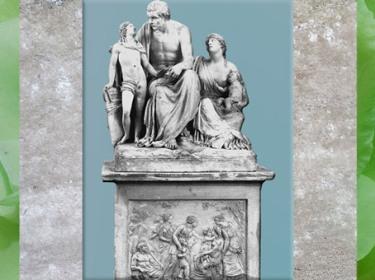 D'après Jean-Jacques Rousseau, de François Masson, monument en pierre, 1799, destiné aux Tuileries, XVIIIe siècle, (Marsailly/Blogostelle)