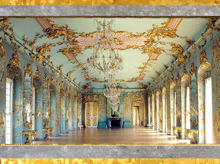 D'après la Galerie Dorée du château de Charlottenburg, achevé en 1699, époque de Sophie Charlotte de Hanovre, reine de Prusse, Berlin, Allemagne, fin XVIIe siècle. (Marsailly/Blogostelle)