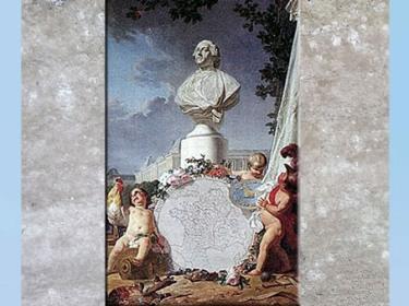 D'après L'Europe savante, allégorie, de Jean-Jacques Bachelier, huile sur toile, 1762, Salon 1763, France, XVIIIe siècle. (Marsailly/Blogostelle)